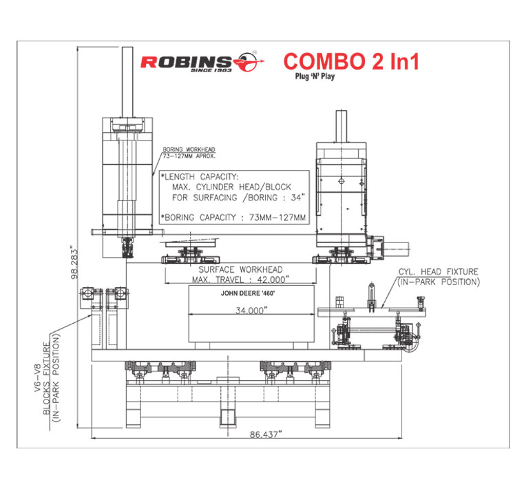 Robins Combo 2.1 | Van Norman Machine(India) Pvt. Ltd | Valve Refacer, Valve Refacers, Valve Guide Machining, Cylinder Head Machining - GLK2821