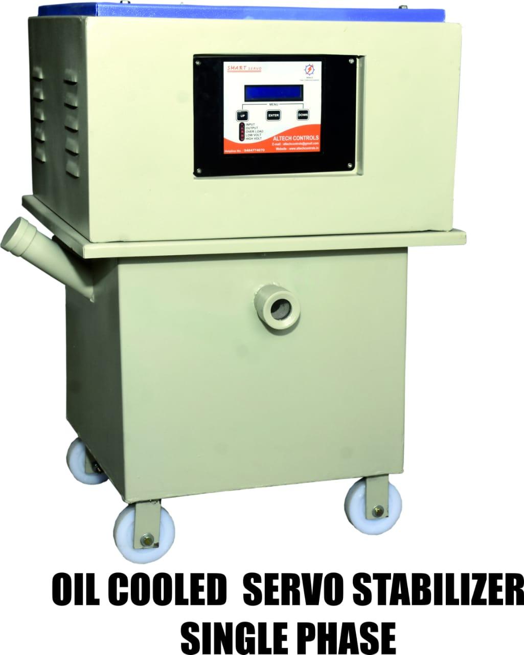 Single Phase Oil Cooled Servo Stabiliser | Altech Controls | Oil Cooled Servo Stabiliser manufacturer in Panchkula - GLK2846