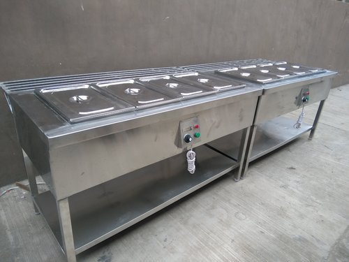 Hot Bain Marie with Tray Rest Rail | Yash Projects Fabrication Co. | Hot Bain Marie with Tray Rest Rail manufacturer in Mohali - GLK2791