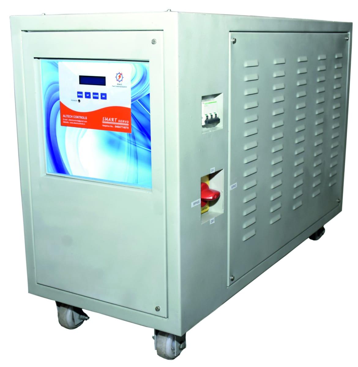 Three Phase Air Cooled Servo Stabiliser | Altech Controls | Three Phase Air Cooled Servo Stabiliser manufacturer in Chandigarh - GLK2851