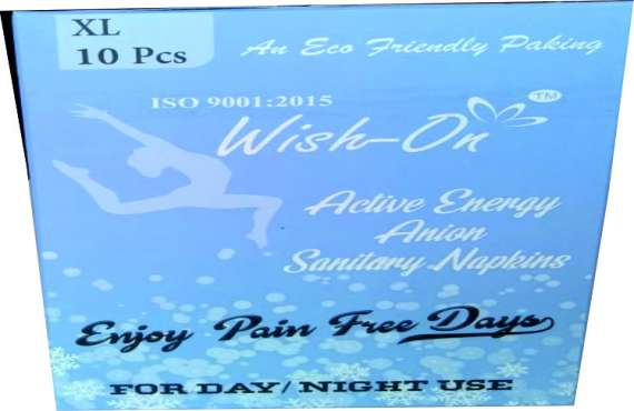Wish On Extra Large 10 Piece , sanitary pads manufacturer in india