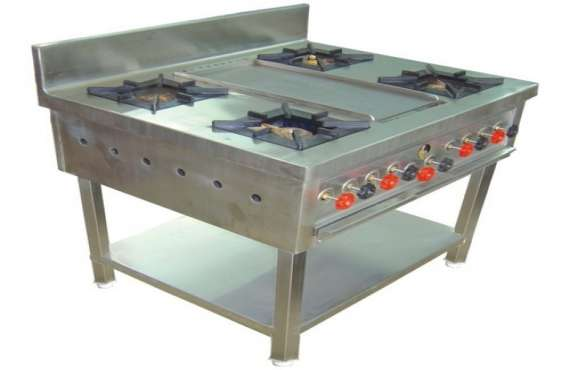 Yash Projects Fabrication Co., Four Burner Cooking Range manufacturer in mohali