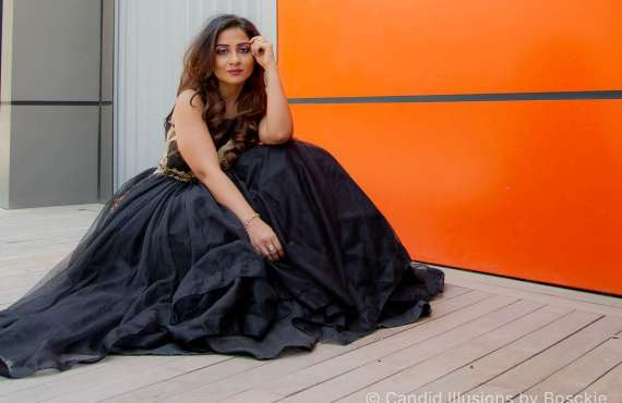 Riddhi Design, Shoulder Gown, Gown online, Bridal Gown, Indian Gown, Designer Gown