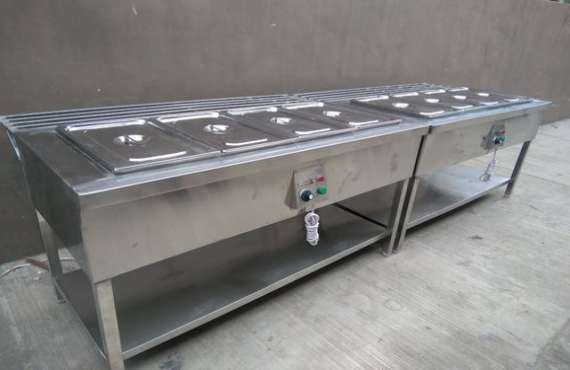 Hot Bain Marie with Tray Rest Rail, Hot Bain Marie with Tray Rest Rail manufacturer in Mohali