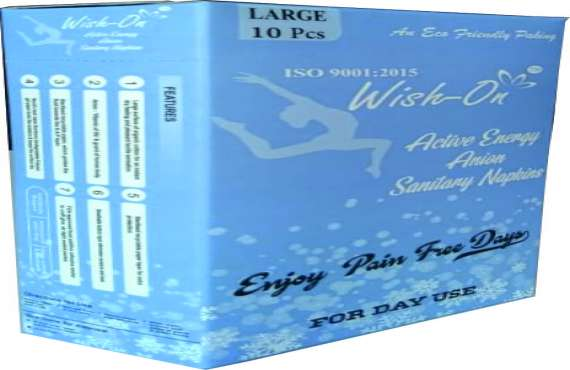 Wish On Large 10 Piece , sanitary pads manufacturer in india
