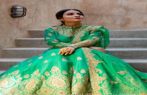 Riddhi Design, Lime Jacket Style Anarkali