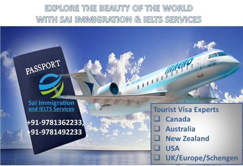 Tourist Visa Experts | Sai Immigration IELTS Services | Tourist Visa Experts in Chandigarh, tourist Visa experts in jalandhar, tourist Visa experts in Ludhiana, Tourist Visa Consultants in Punjab, Tourist visa Consultants, Haryana - GL34685