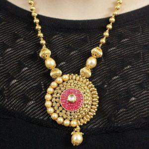 Pink necklace set online    IndiHaute   pink necklace set online , pink necklace set with price , pink necklace set , pink pearl necklace set online , pink beads necklace set , pink necklace set for women , pink pearl necklace set  - GL44448