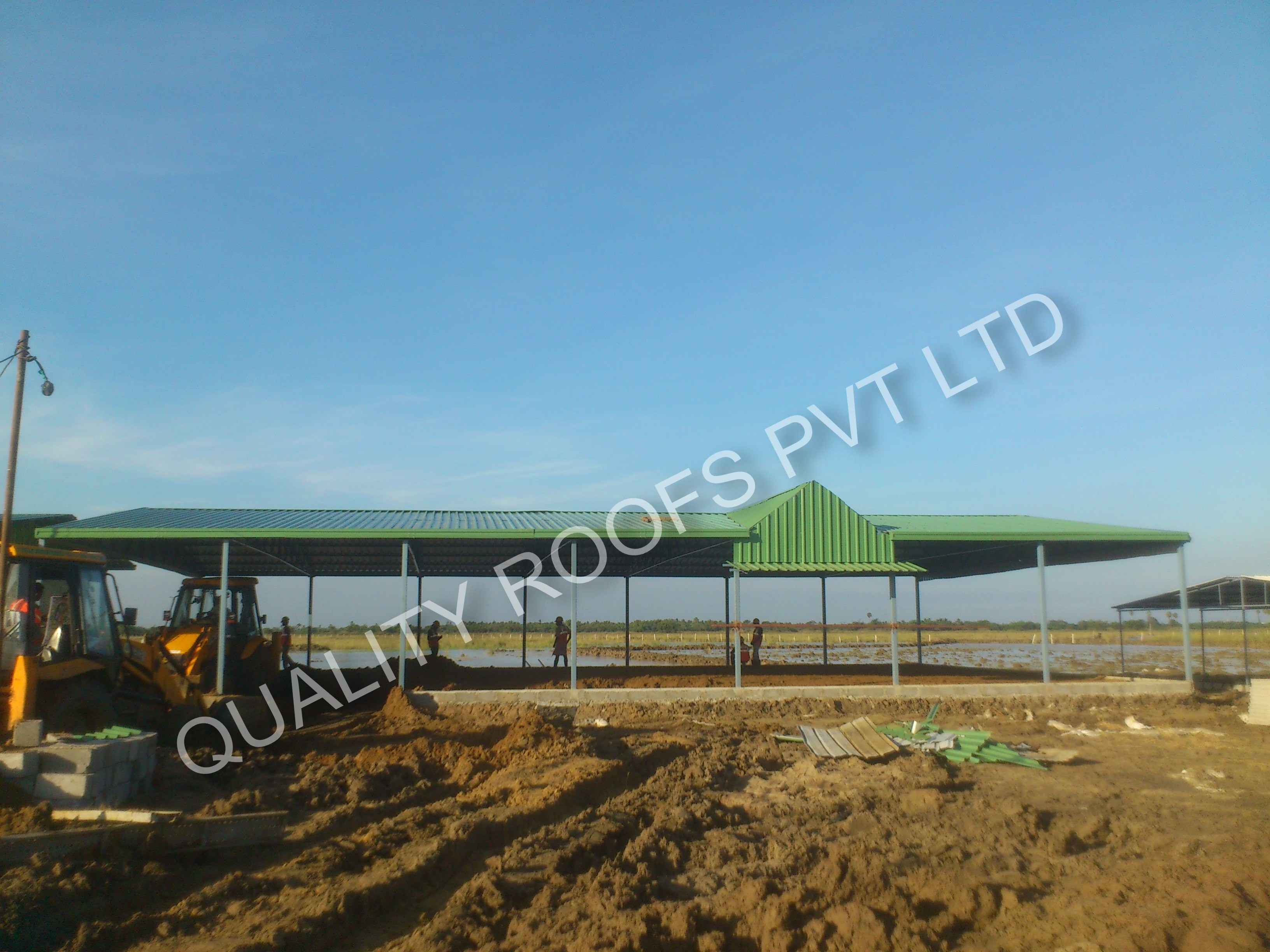 Quality Roofs Pvt Ltd, Poultry Shed Roofing Contractors In Chennai,  Diary farm Shed Roofing, Cow Feed Manufacturing Shed, Roofing Shed Work, Poultry feed manufacturing Sheds, Roofing Contractor Services