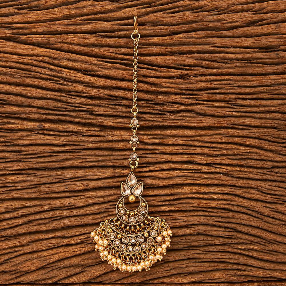 IndiHaute, Simple maang tikka online shopping in zirakpur , simple maang tikka for round face in zirakpur , simple maang tikka for lehenga in zirakpur , simple maang tikka for haldi  ceremony in zirakpur ,