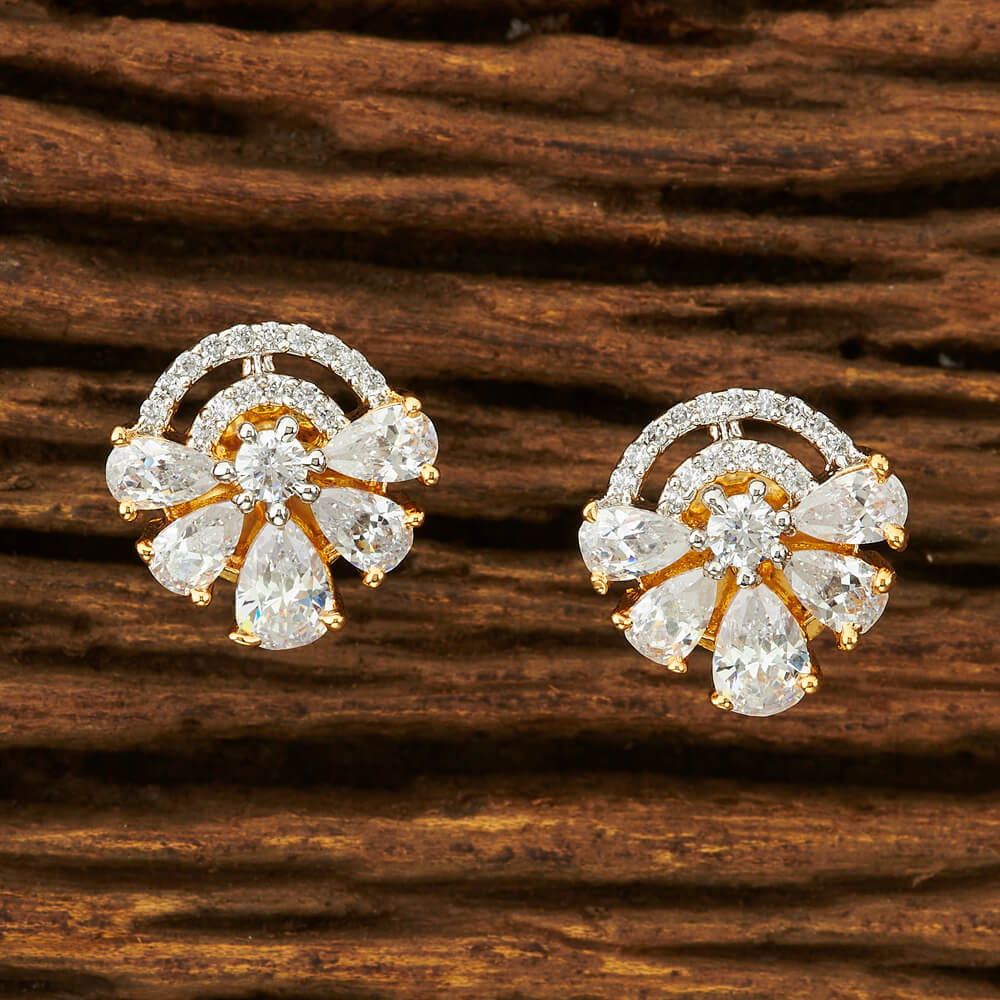 IndiHaute, american diamond stud earrings price , american diamond stud earrings for sale , american diamond stud earrings for sale near me , american diamond stud earrings on ear , american diamond stud earring