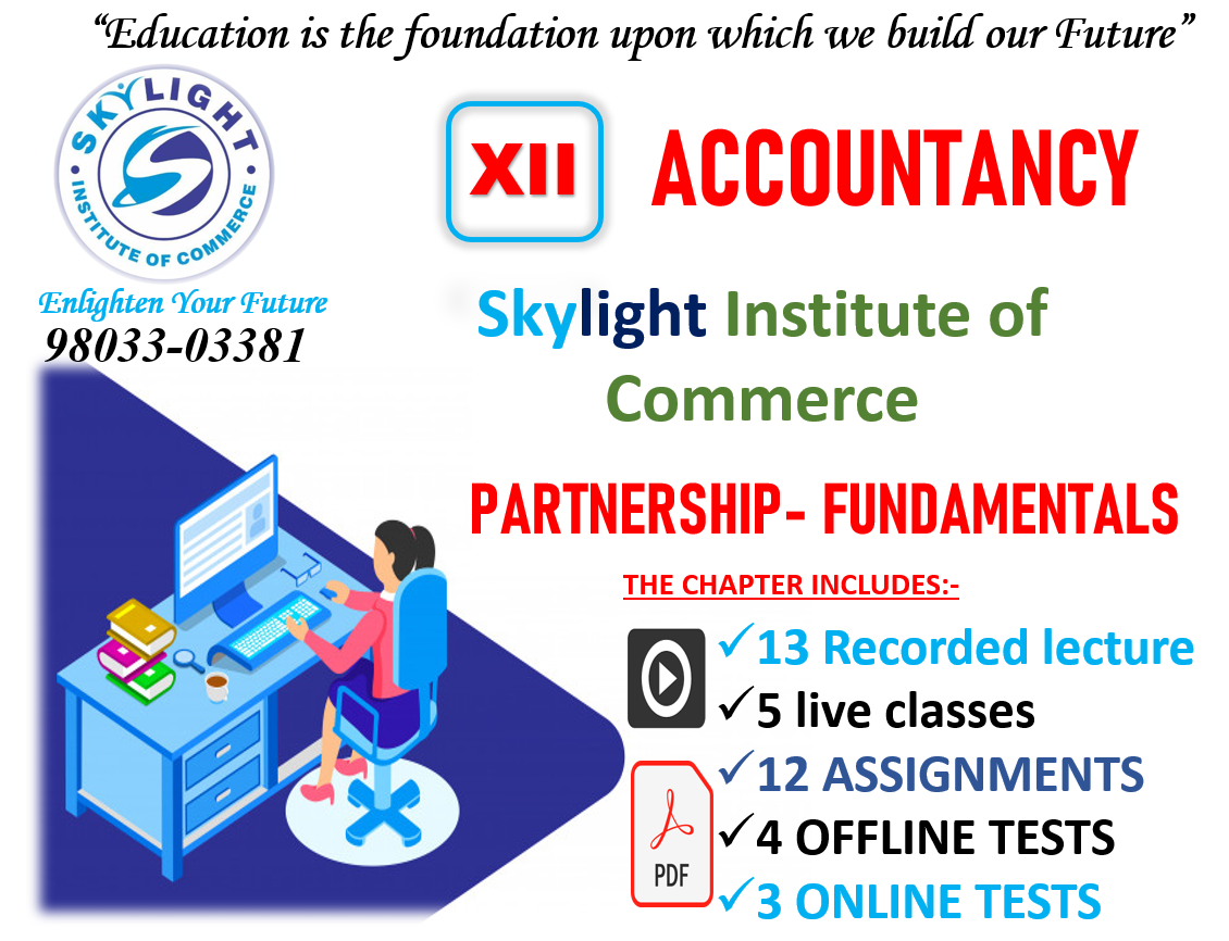 Online Class for 12th Accounts | SKYLIGHT INSTITUTE OF COMMERCE | online classes for Commerce, live classes, recorded classes - GL73158