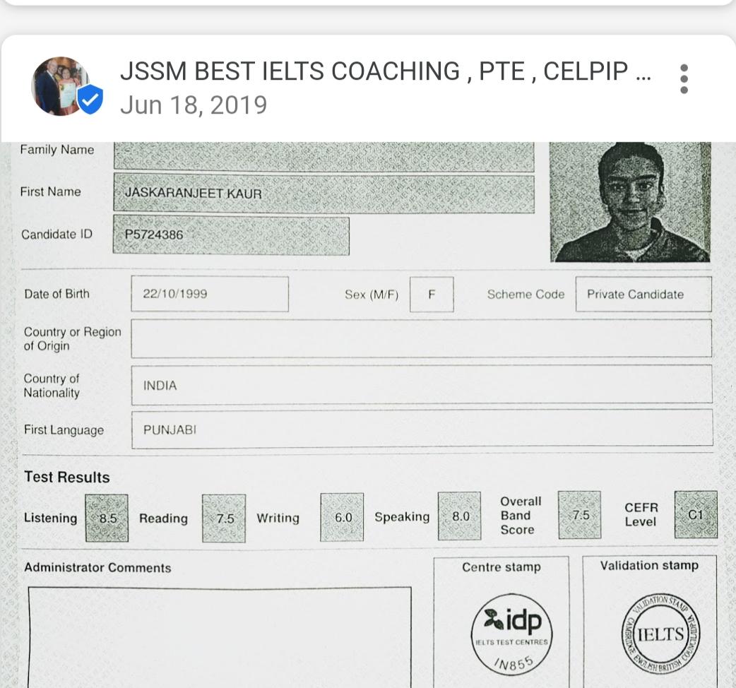 JSSM IELTS, PTE & CELPIP COACHING INSTITUTE IN KHARAR | JSSM Best IELTS,PTE Spoken English institute | # IELTS coaching in Kharar # Best IELTS coaching institute in kharar  # IELTS hub in kharar  # Best IELTS tutorial near me # No.1 IELTS institute in kharar  # IELTS & PTE hub in kharar  - GL49459