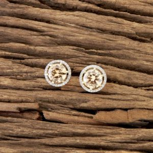 LCT circle shaped american diamond studs  | IndiHaute | american diamond studs with price, american diamond in ambala , american diamond studs earrings ,american diamond studs online shopping, american diamond studs for girls , american diamond studs  - GL43713