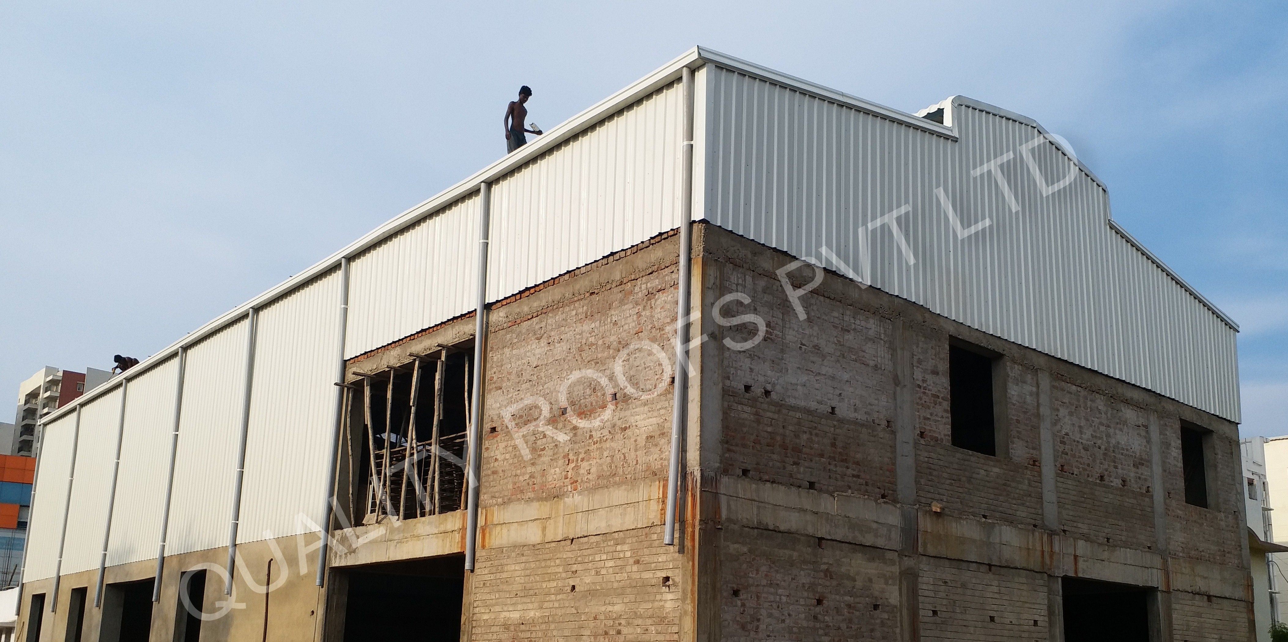 Factory Shed Construction In Chennai | Quality Roofs Pvt Ltd | Factory Shed Construction In Chennai, Industrial Shed Contractors In Chennai, Blue Sheet Roofing Work In Chennai, Roofing Services In Chennai, Polycarbonate Shed Contractors in Chennai - GL57071