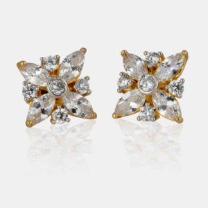 Buy online american diamond studs or earrings for women | IndiHaute | American diamond studs , american diamond earrings , american diamond earrings for women , american diamond earrings with price ,