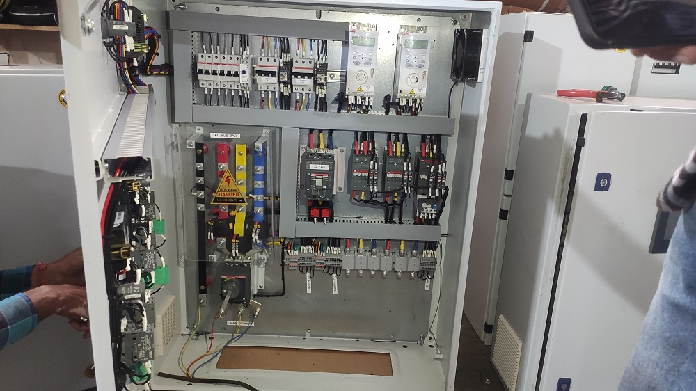 Control panel with ABB Drives  | Helical Engineers | Electrical panel in Mohali , Electrical Automation in Mohali  - GL102515