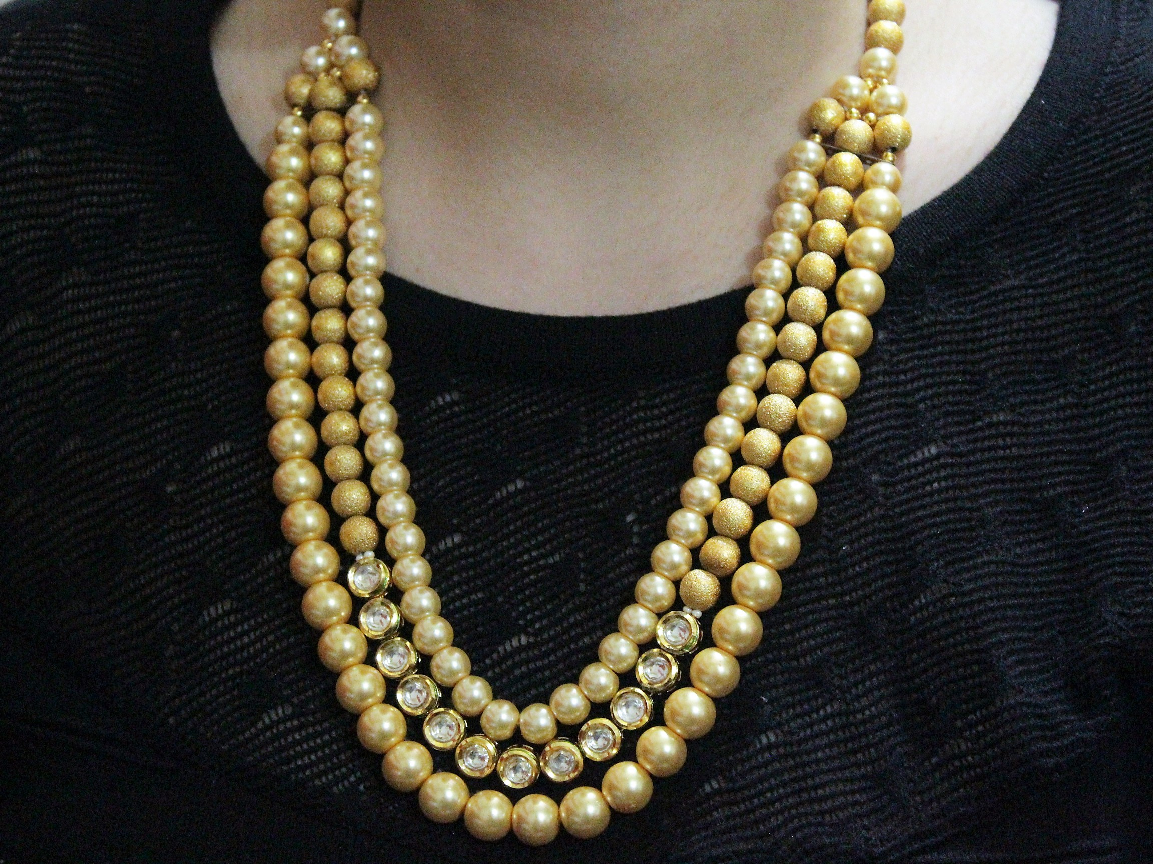 IndiHaute, pearl kundan long neckalce online india , pearl kundan long necklace for cheap , pearl kundan long necklace for price , pearl kundan long necklace online purchase