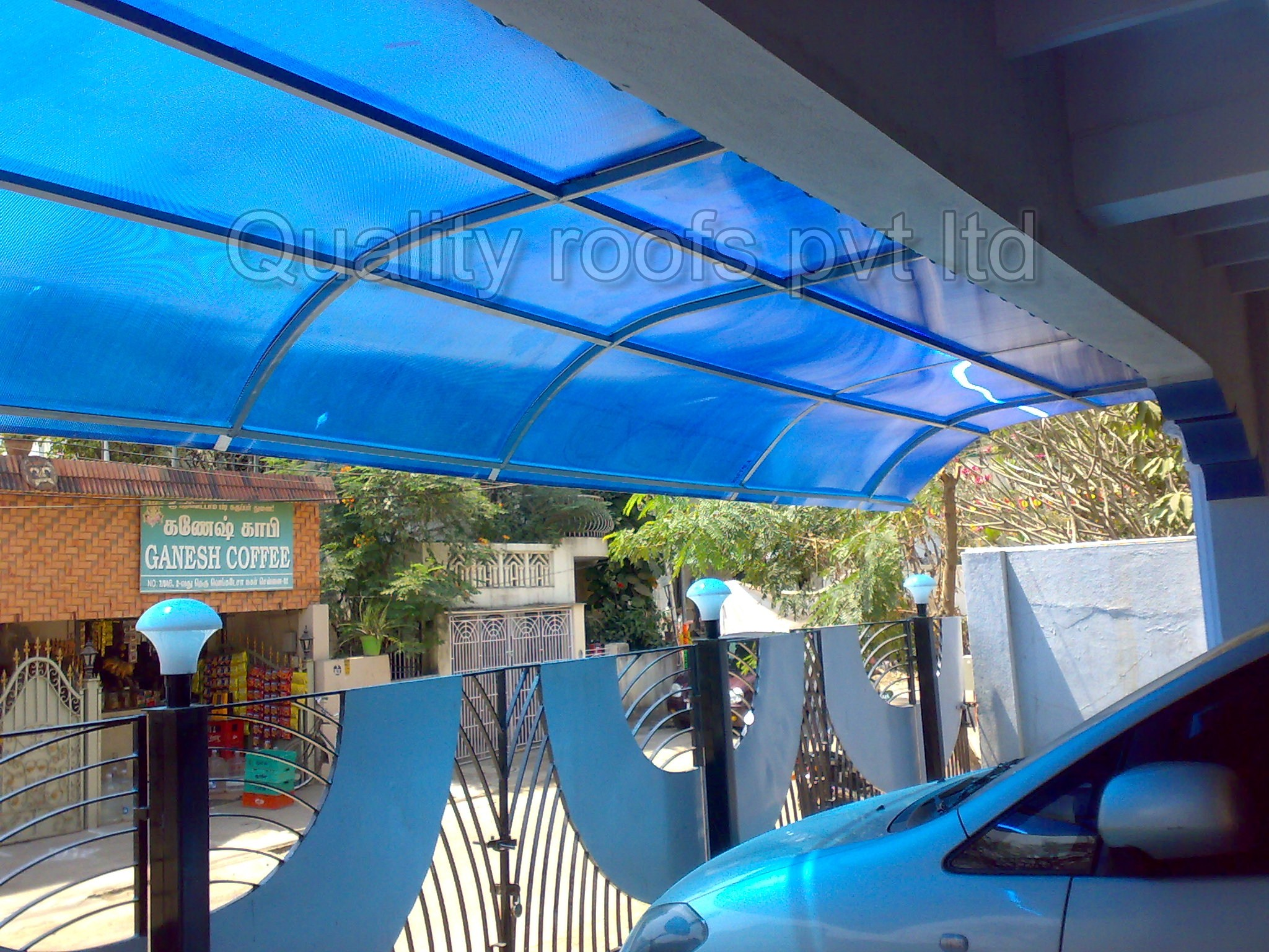 Polycarbonate Roofing Contractors  | Quality Roofs Pvt Ltd | Polycarbonate Roofing Contractors In Chennai,Polycarbonate Roofing Services In Chennai,Transparent Shed Work In Chennai,Polycarbonate Roofing In Chennai.Polyacarbonate Car Parking Roofing In Chennai - GL57382
