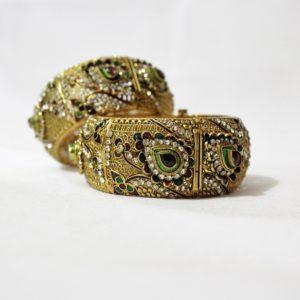Royal antique bangles for women | IndiHaute | Antique bangles , Antique bangles online , antique bangles for women , antique bangles with price , antique bangles in india , antique bangles in navi mumbai , antique bangles in mumbai,   - GL43774