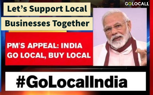Let's Support Local Business Together | GoLocall Web Services Private Limited | Grow your business online, AatmanirbharBharat, GoLocalIndia, GoLocall - GL71433