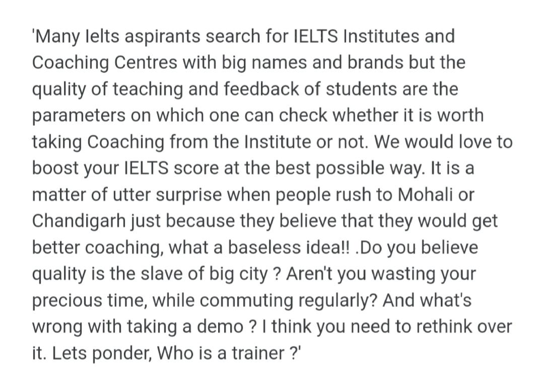 Jssm post   JSSM Best IELTS,PTE Spoken English institute   Roby - GL39599