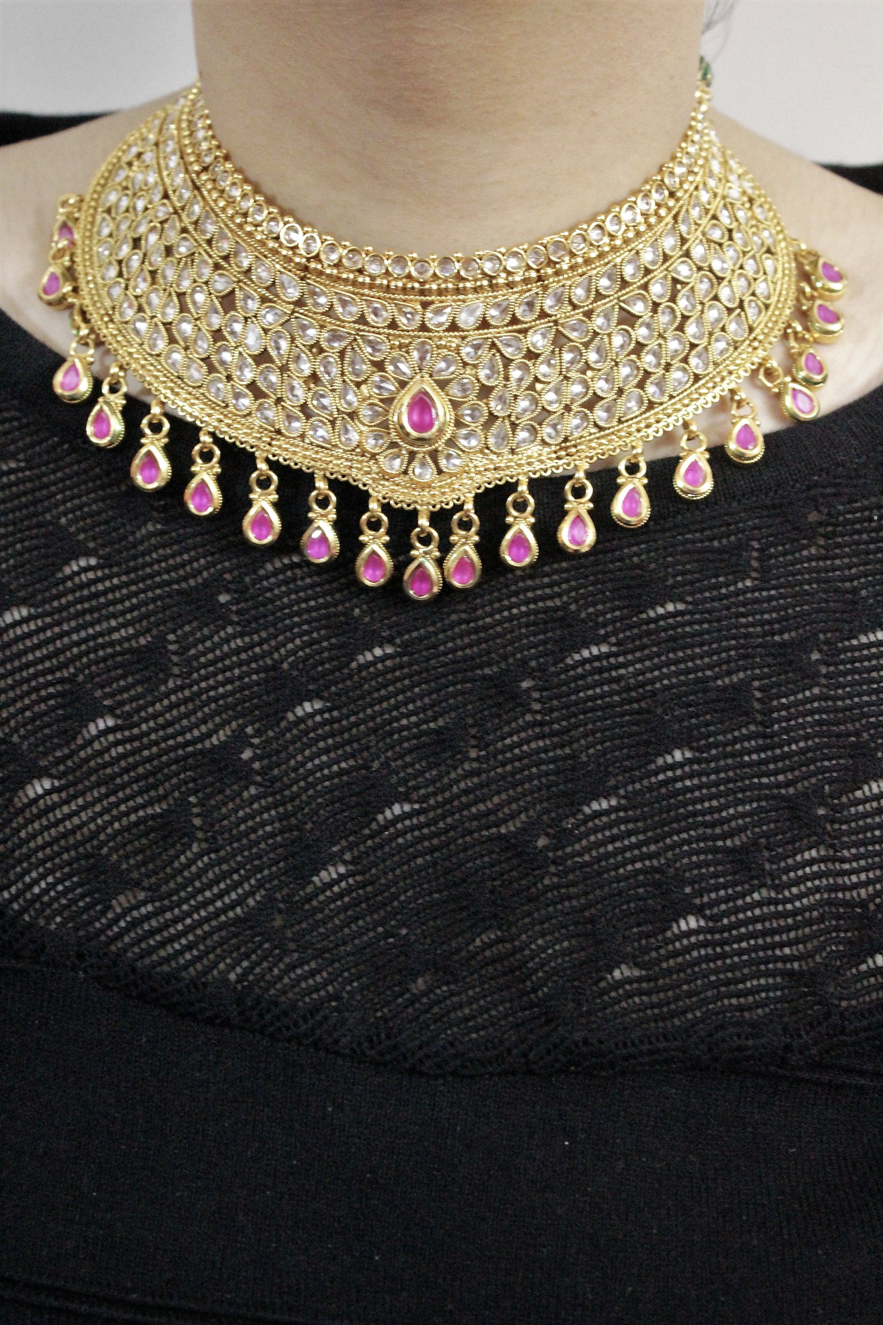 IndiHaute, bridal necklace set artificial online , bridal necklace set artificial on sale , bridal necklace set artificial online india , bridal necklace set artificial on price