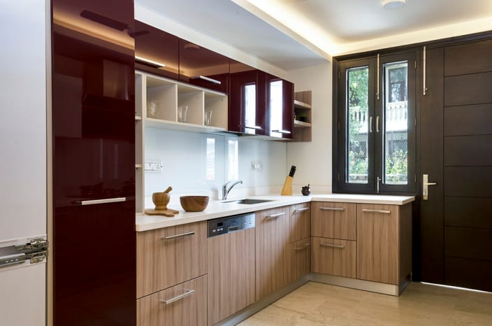 L Shaped Modular Kitchen Triad Interio L Shaped Modular Kitchen Manufacturers In Hyderabad L