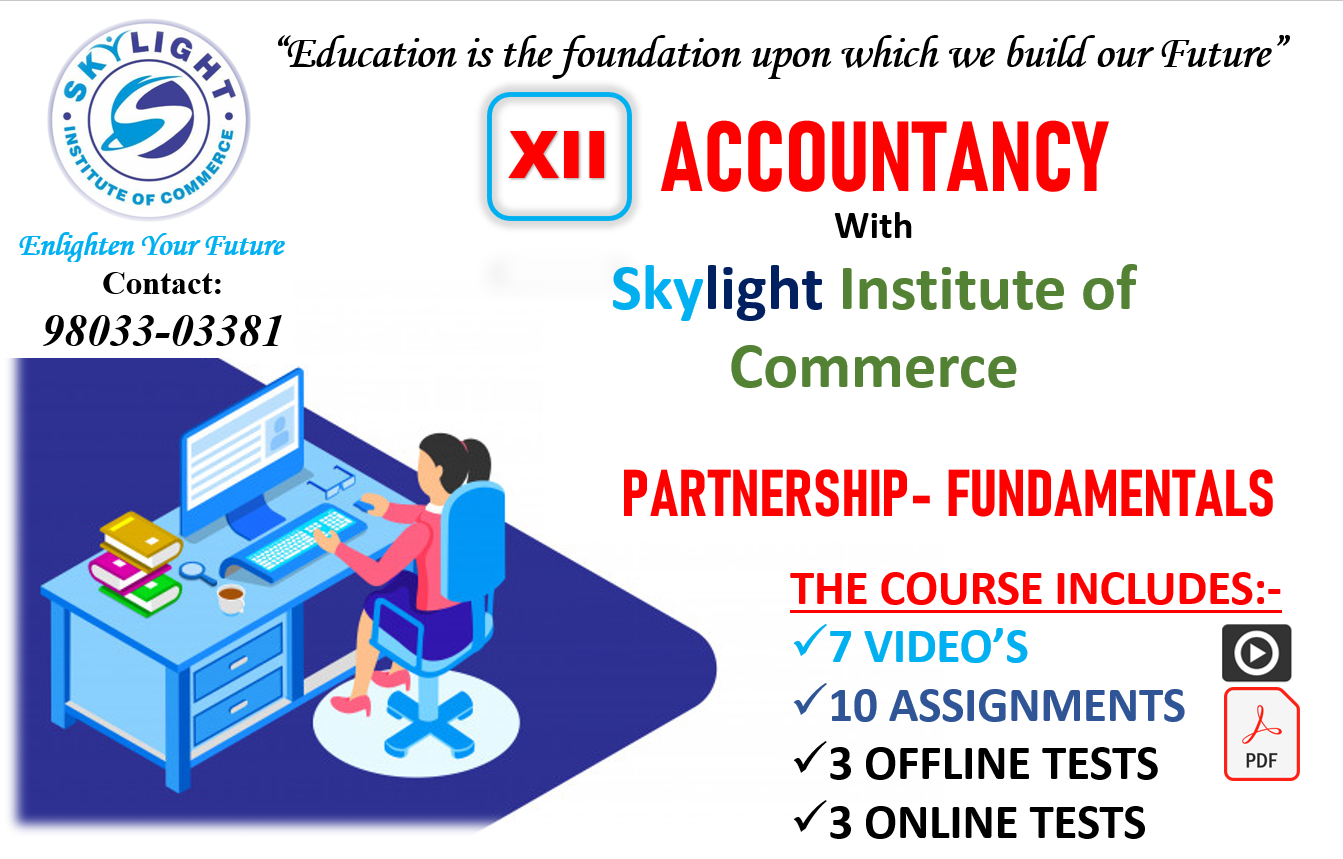 Accounting for Partnership- fundamentals | SKYLIGHT INSTITUTE OF COMMERCE | online classes for Commerce, live classes, recorded classes - GL69297