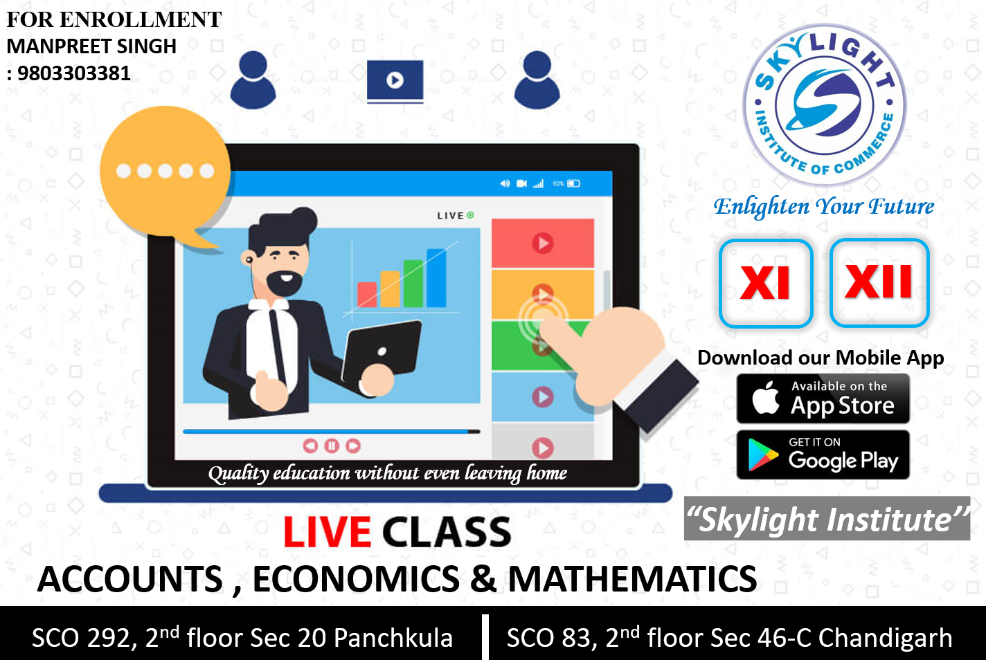 Online Classes for 11th and 12th Commerce | SKYLIGHT INSTITUTE OF COMMERCE | online classes for commerce - GL66545
