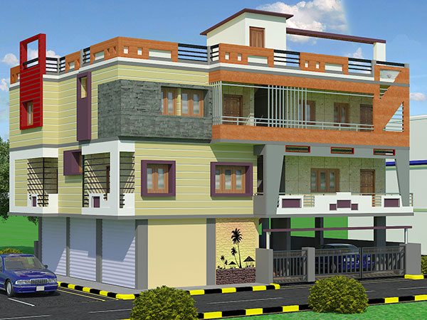 Building Elevation Studies : Civil engineer in chennai call qb