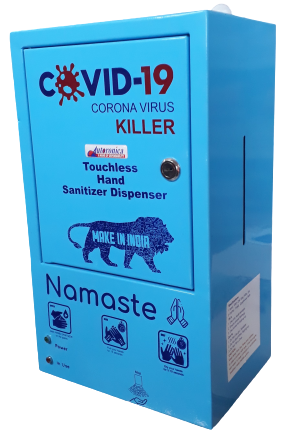 Autoronica, Automatic Sanitizer Machine manufacturer in Chandigarh, Automatic Hand Sanitizer Machine dealer in Chandigarh, Hands free Machine distributor in Chandigarh, Sanitizer Dispenser reseller in Mohali