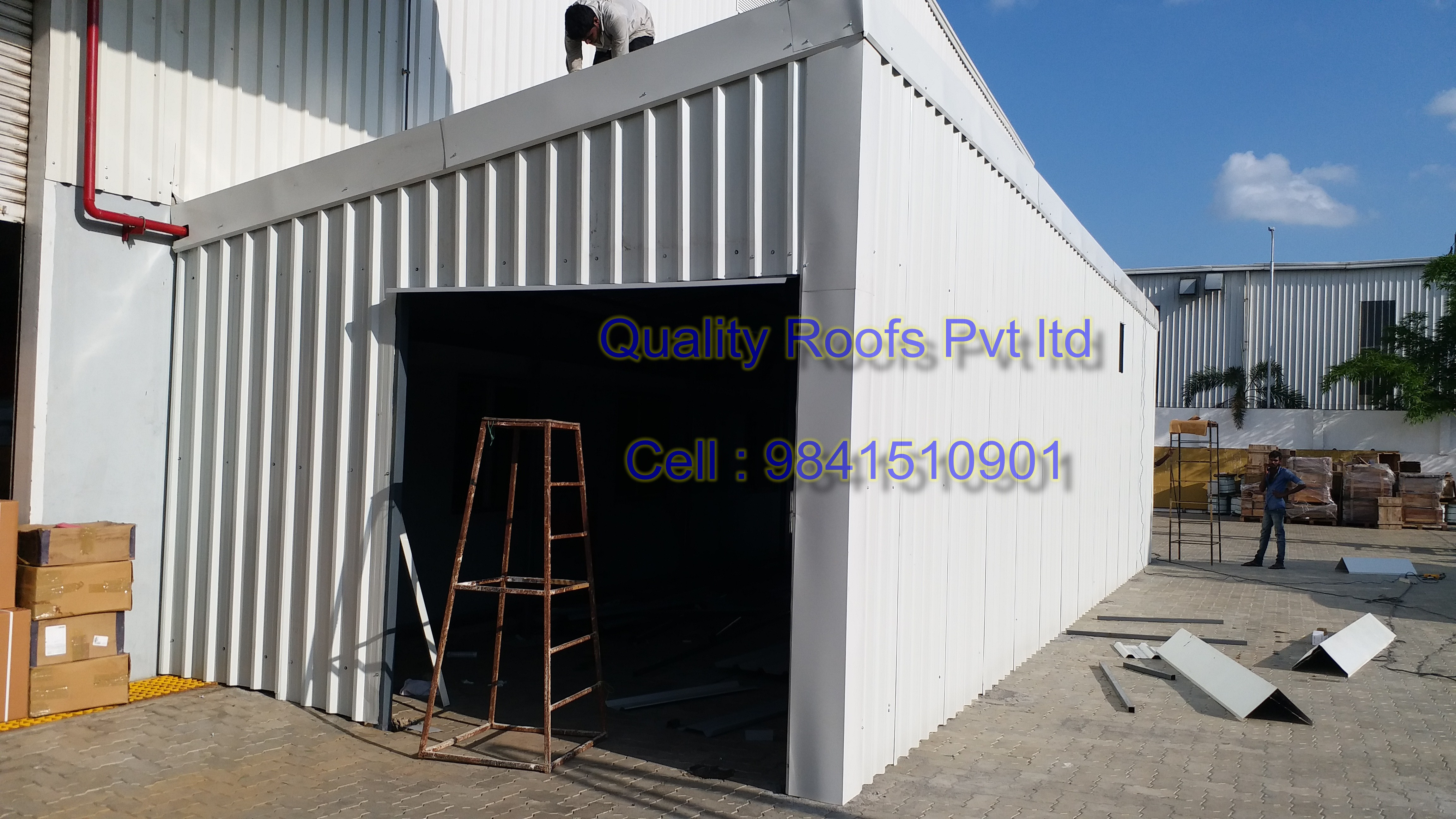 Quality Roofs Pvt Ltd, Metal Sheet Roofing Contractors In Chennai, Roof Sheet Work, Metal Roofing Installation Works, Low Cost Roofing Ideas, Factory Shed Roofing Solutions