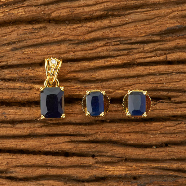 Buy online royal blue small pendant set  | IndiHaute | Royal blue pendant set , small pendant set for girls ,casual wear pendant set , pendant set in Nagpur ,  Royal blue pendant set online shopping in india , pendant set in udaipur   - GL44006