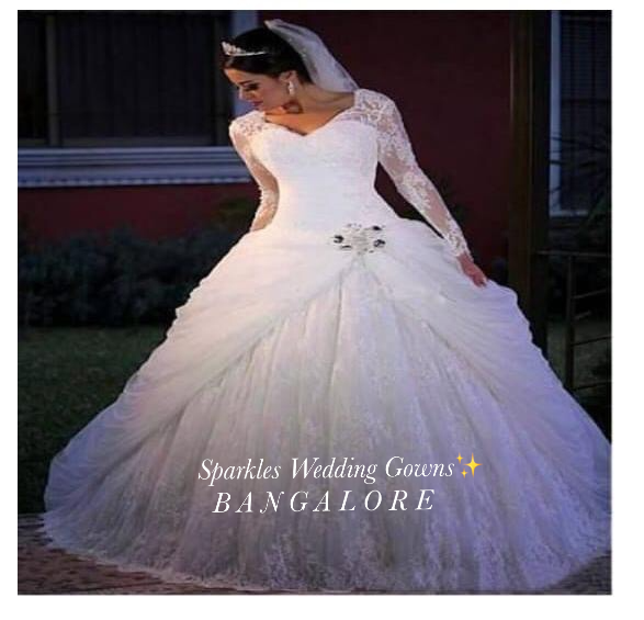 BRIDAL GOWNS IN INDIA  | SPARKLES WEDDING GOWNS  | WEDDING DRESS, DREAM DRESS, PROFESSIONAL DESIGNERS, SPARKLES#CHENNAI, BANGALORE, HYDERABAD  - GL76214
