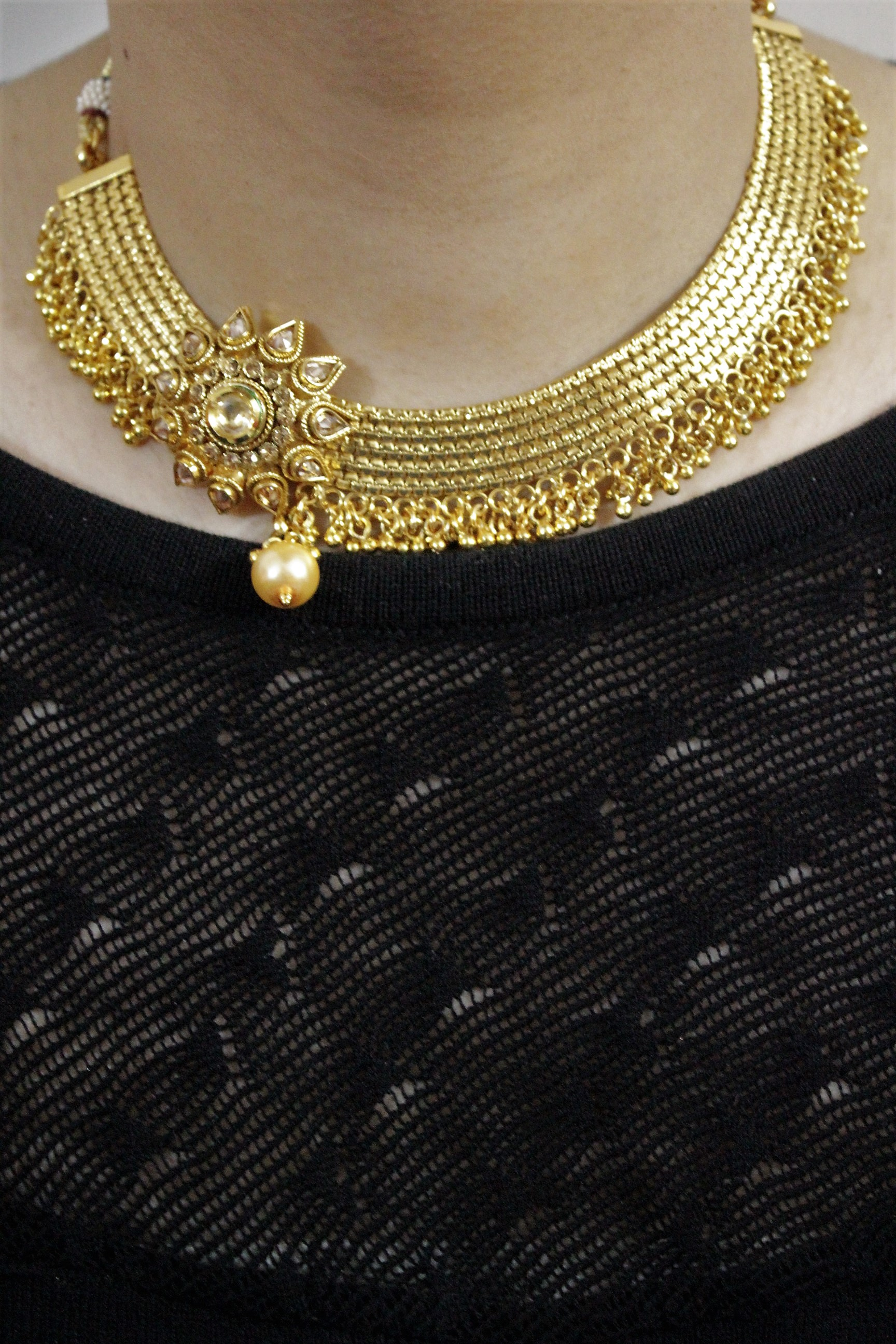 IndiHaute, artificial neck jewellery online in faridabad , artificial neck jewellery online shopping in faridabad , artificial neck jewellery for engagement in faridabad