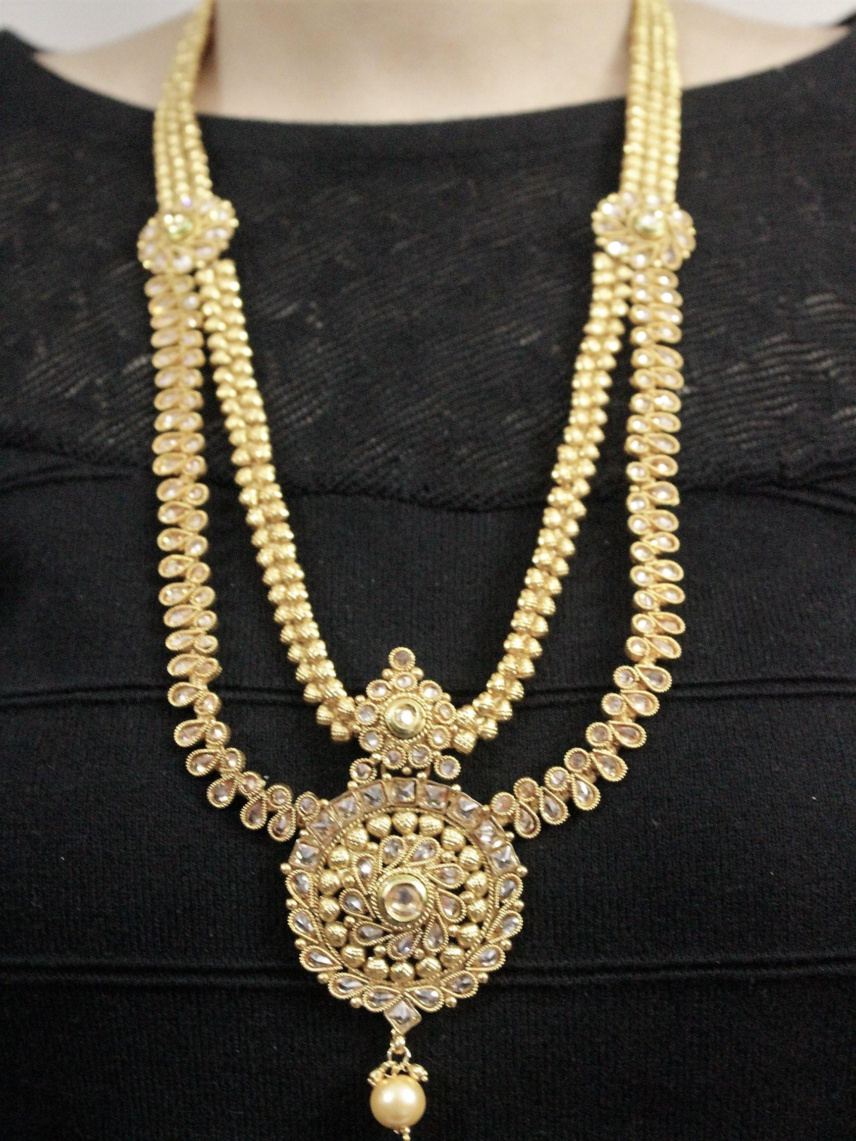 IndiHaute, layered necklace set online , layered necklace set for sale , layered necklace set for saree , layered necklace set wedding , layered necklace set online shopping , layered necklace set online india ,