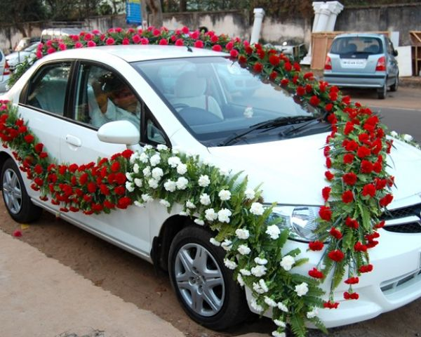 Flower decoration for cars mobile no 8148578779 by for Automobile decoration