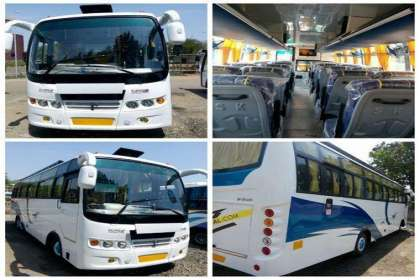 GetMyCabs +91 9008644559,  50 seater bus rental in bangalore airport,bus rental near me