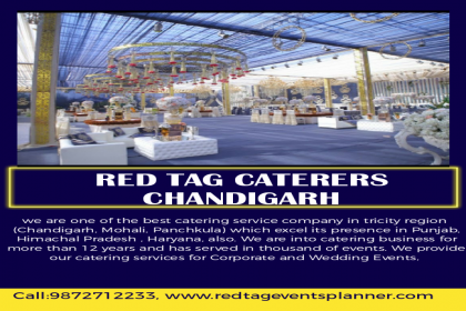 Red Tag Caterers, Best Caterers, top Caterers in Chandigarh, amazing Caterers in Chandigarh,