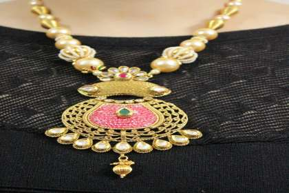 antique necklace set online shopping in patna  - IndiHaute, antique necklace set for bride in patna , antique necklace set for girl in patna , antique necklace set for lehenga in patna , antique necklace set for marriage in patna