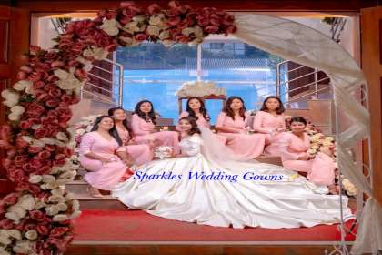 SPARKLES WEDDING GOWNS ,   CHRISTIAN WEDDING GOWN ,  BRIDAL GOWN  , DESIGNER GOWNS IN BANGALORE   ,RECEPTION GOWNS   ,MARRIAGE FROCK   ,GOWN SPECIALIS