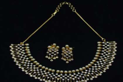 american diamond necklace set in patna with price  - IndiHaute, american diamond necklace set online in patna , american diamond necklace set online shopping in patna , american diamond necklace set in patna india