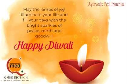Qmedbiotech, Happy Diwali, Ayurvedic Pcd Franchise , Pcd Ayurvedic Franchise companies, Franchise of Ayurvedic Products, Ayurvedic Pcd Franchise company in Sundergarh Orissa,