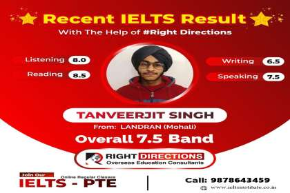 Right Directions,  IELTS coaching in Landran ,pte  IELTS coaching in Landran ,best  IELTS coaching in Landran ,best pte coaching in Landran
