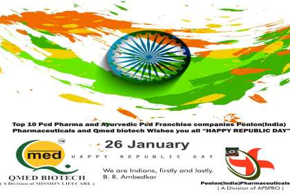 Qmed Biotech Wishes Happy Republic Day  - Qmedbiotech, Happy Republic Day, Top 10 Pcd Pharma and Ayurvedic Franchise Companies, Ayurvedic Pcd Franchise, Pcd Pharma Franchise Companies, Best ayurvedic Pcd Franchise company, Pcd Franchise companies in chandigarh,