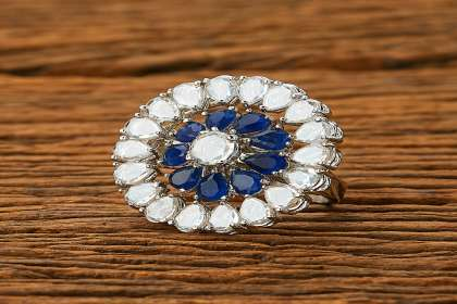 royal blue ring for sale  - IndiHaute, royal blue rings for sale , royal blue ring for cheap , royal blue ring for wedding , royal blue ring for saree , royal blue ring for girl , royal blue ring for ladies