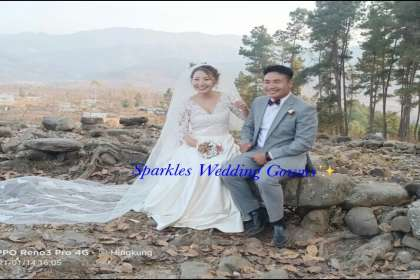 SPARKLES WEDDING GOWNS , CHRISTIAN WEDDING GOWN  # MARRIAGE DRESS RETAILERS  # BRIDAL GOWN   # DESIGNER GOWNS IN BANGALORE   #RECEPTION GOWNS   #MARRIAGE FROCK   #GOWN SPECIALIST
