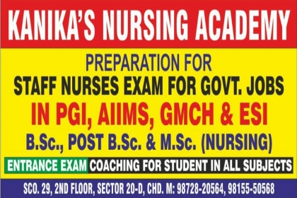 KANIKA'S NURSING ACADEMY, BSC NURSING COACHING IN CHANDIGARH,BSC NURSING COACHING FOR PGIMER ,ARMY NURSING COACHING IN CHANDIGARH ,BFUHS NURSING COACHING IN CHANDIGARH