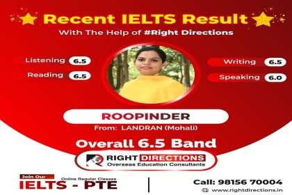 Right Directions, IELTS institute in landran , best ielts coaching in landran , on line classes for ielts in landran